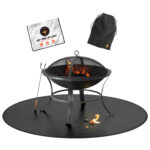 Fire pit mat for deck